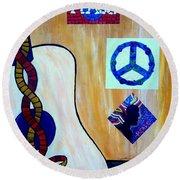 Peace - Music Round Beach Towel