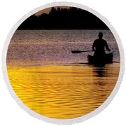 Peace Of Mind Round Beach Towel
