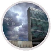 Peace On Earth - United Nations Round Beach Towel