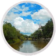 Peace River 4 Round Beach Towel
