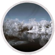 Peace River North Near Infrared Arcadia Florida Usa Round Beach Towel