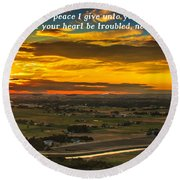 Peace Round Beach Towel by Robert Bales