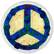 Peace Sign Round Beach Towel