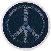 Peace Symbol Design - Bld01t01   Round Beach Towel