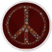 Peace Symbol Design - S05d Round Beach Towel