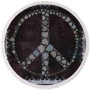 Peace Symbol Design - S79bt2 Round Beach Towel