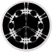 Peace Symbol Made Of Electric Guitars Round Beach Towel