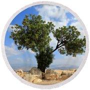 Peace Tree Round Beach Towel