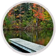 Peaceful Autumn Day Round Beach Towel
