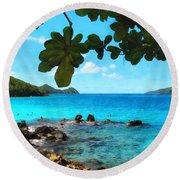 Peaceful Beach St. Thomas Round Beach Towel