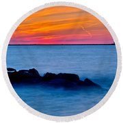 Peaceful Bliss Round Beach Towel