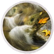 Peaceful Creek Round Beach Towel
