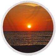 Peaceful Evening Round Beach Towel