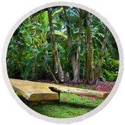 Peaceful Garden Round Beach Towel