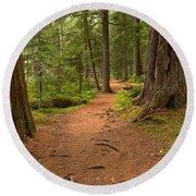 Peaceful Path To Cheakamus Lake Round Beach Towel