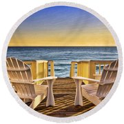 Peaceful Seclusion Round Beach Towel