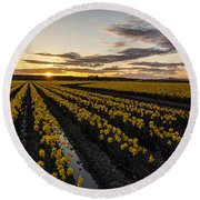 Peaceful Skagit Serenity Round Beach Towel