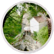 Peaceful Spot In China Round Beach Towel