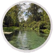 Peaceful Spring Round Beach Towel