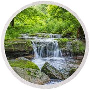 Peaceful Stream Round Beach Towel