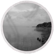 Peacefullness Round Beach Towel