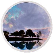 Peacefully Chaotic... Round Beach Towel
