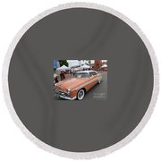 Peach Classic Round Beach Towel
