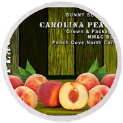 Peach Farm Round Beach Towel
