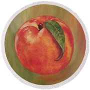 Peach Round Beach Towel