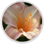 Peach Perfection Round Beach Towel
