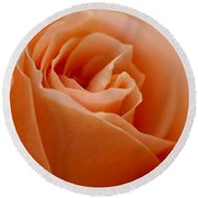 Peach Rose Round Beach Towel