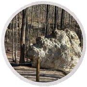 Peach Tree Rock-6 Round Beach Towel