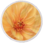 Peaches And Cream Round Beach Towel