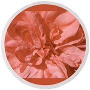 Peachy Pink Jasper Rose Round Beach Towel