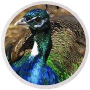 Peacock Blue Round Beach Towel