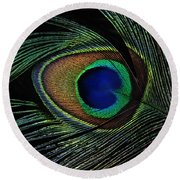Peacock Eye Round Beach Towel