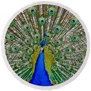 Peafowl Peacock Round Beach Towel