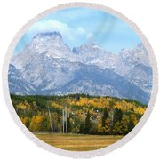 Peak Cloud Round Beach Towel