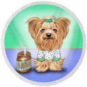 Peanut Butter Lover Round Beach Towel