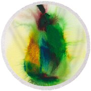 Pear Abstract 3 Round Beach Towel