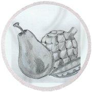 Pear Artichoke Snap Pea Round Beach Towel