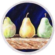 Pear Pear And A Pear Round Beach Towel