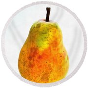 Pear Still Life Round Beach Towel