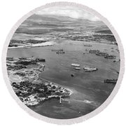 Pearl Harbor Round Beach Towel