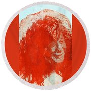 Pearl Of A Girl Round Beach Towel