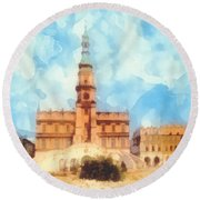 Pearl Of Renaissance Round Beach Towel