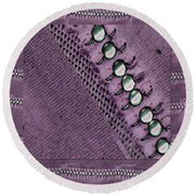 Pearls And More Pearls Round Beach Towel