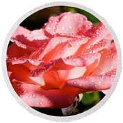 Pearly Petals Round Beach Towel