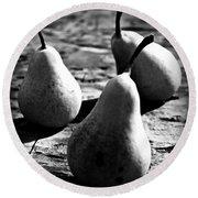 Pears Round Beach Towel