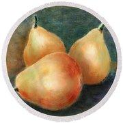 Pears Still Life Round Beach Towel